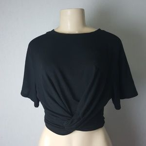 NWOT Poof NY Black Crop top size M